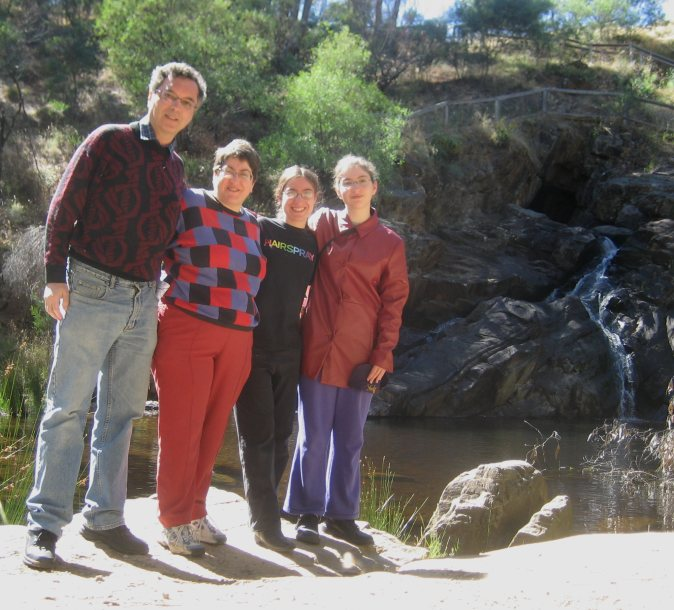 The Eisfelder Family at the Blowhole near Hepburn Springs, January 2010